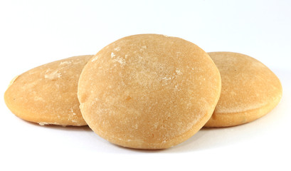 The palm sugar on white background