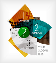 Option infographic presentation layout