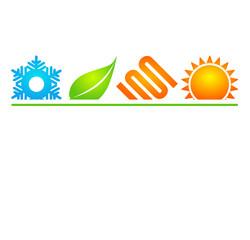 logo énergies renouvelables chauffage climatisation géothermie