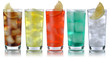 Leinwandbild Motiv Getränke mit Cola und Limonade