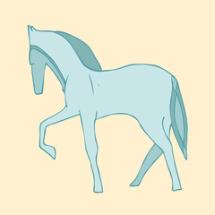 horse vector illustration, hand drawn