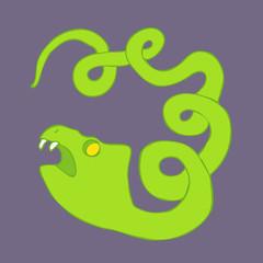 snake vector illustration, hand drawn