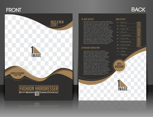 Fashion Hairdresser Front Flyer Design.