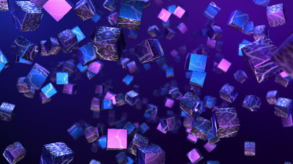 Abstract Cubes Screensaver