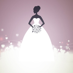 Vector Illustration of a Beautiful Bride