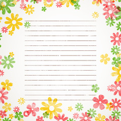 Vector Illustration of a Colorful Background with Flowers