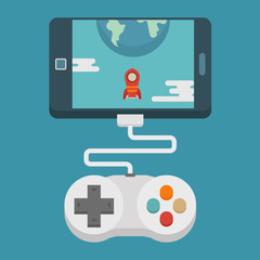 Mobile gaming concept  , flat design
