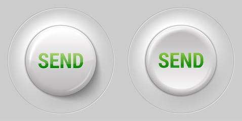 big white glossy send button