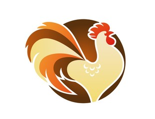 cock logo,chicken bird crowed symbol,icon character