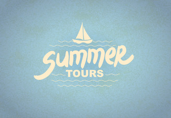 Summer tours - typographic design