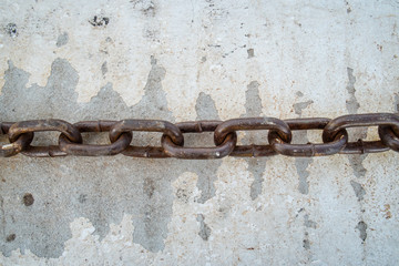 Chain link on the floor