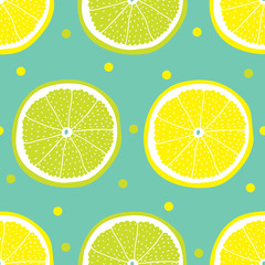 Vector seamless pattern with citrus.