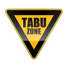 verkehrszeichen orange tabu zone I