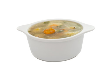 soup with fresh vegetables