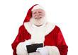 Weihnachtsmann macht Notizen