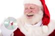 Weihnachtsmann hält DVD