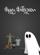 plakat halloween gespenst I