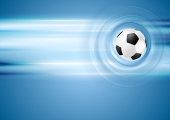 Bright blue football background