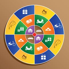 award symbol on target, success concept