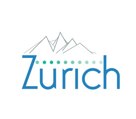 Travel Symbol for the Town of Zurich