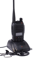 Portable UHF radio transmitter