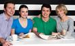 Family enjoying dinner at a restaurant