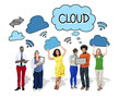 Group of People with Cloud Computing Concepts