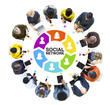Group of People with Social Network Concepts