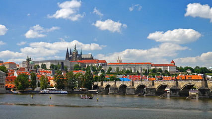 Prague Castle. Czech republic. Timelapse