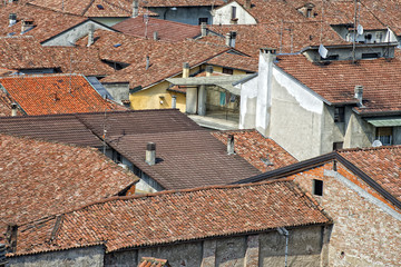 italian medieval village roof shingle
