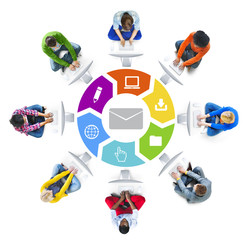 People Social Networking and E-Mail Concept