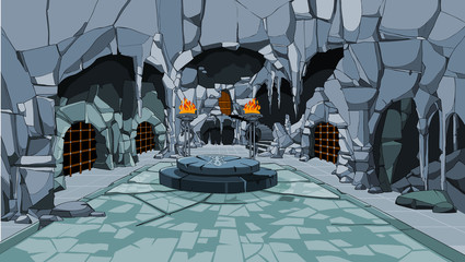 hall interior fabulous ice cave