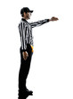 american football referee gestures first down silhouette