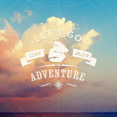 Lets go on an adventure - type design