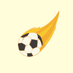 football ball (soccer) in fire vector illustration