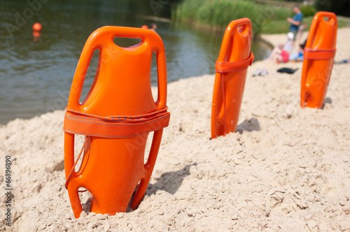Fotobehang Water Motorsp. Lifeguard rescue equipment