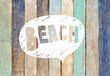 Colorful Wooden Plank and Beach Concepts