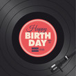 Happy birthday card. Vinyl illustration vector design - 66897616