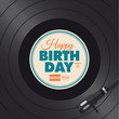 Happy birthday card. Vinyl illustration vector design - 66897625