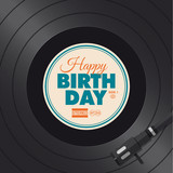 Fototapety Happy birthday card. Vinyl illustration vector design