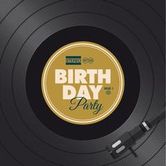 Birthday party invitation card. Vinyl illustration vector design