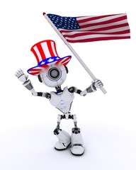 Robot celebrating 4th july