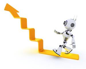 robot climbing a graph
