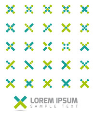 X Shapes Vector Logo Design Elements Collection