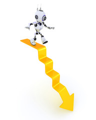 Robot on a graph