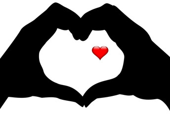 mains forme coeur