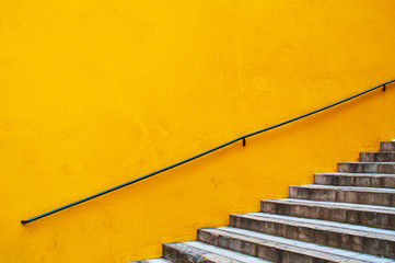 Yellow wall and stairs