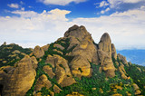 Montserrat mountains and blue sky