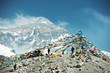 Leinwandbild Motiv Spectacular mountain scenery on the Mount Everest Base Camp