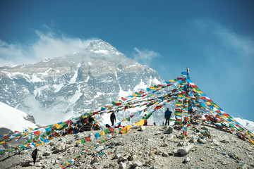 Spectacular mountain scenery on the Mount Everest Base Camp